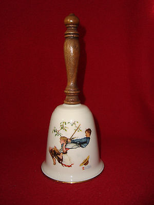 1980 Norman Rockwell Harmony Bell Series FLYING HIGH Gorham  Brown & Bigelow