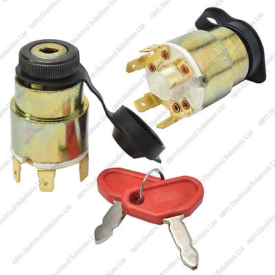 12V Universal Ignition Starter Switch Splashproof Cover & 2 Keys - Car Boat