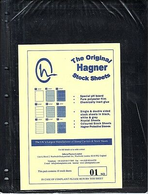 Hagner Original Stock Sheets Pack Of 10 1 Row  Single Side