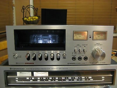 VINTAGE cassette deck Pioneer CT-F2121 for parts or repair see video
