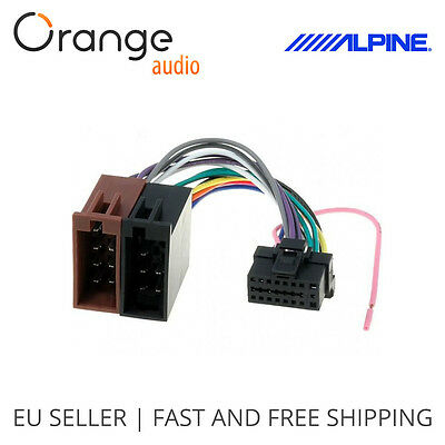 Alpine 16 Pin to ISO Lead Wiring Loom Power Adaptor Wire Radio Connector Harness