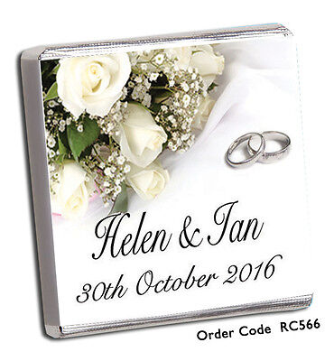 50 PERSONALISED CHOCOLATE WEDDING FAVOURS & FREE P+P 100's OF 2018 NEW DESIGNS