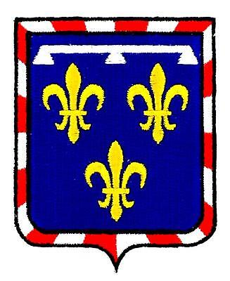 Patch ecusson brodé CENTRE  Blason armoirie drapeau region heraldique