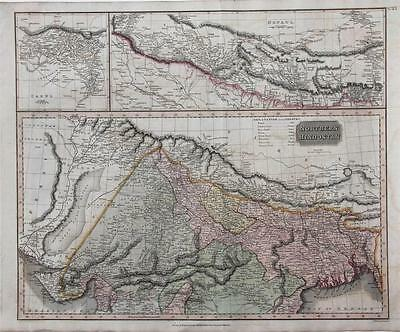 1817 Northern Hindoostan - Large Thomson Map - India, Nepaul, Cabul, Hand Color