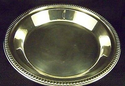 50's REED BARTON SILVER FOOTED GADROON PIE PAN SERVING TRAY -OUR FineThings4sale