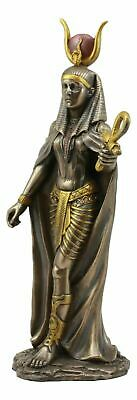 Ancient Egyptian Decorative Mother Goddess Hathor Faux Bronze Figurine Statue
