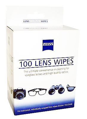 5cb8228a042 Zeiss Lens 100 Cleaning Wipes Digital Camera Smartphone Lcd Led Eyeglass  Screen