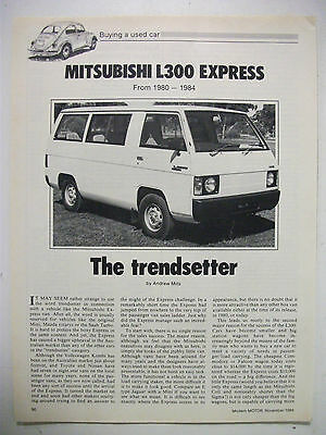 Mitsubishi L300 Express Van 1980 To 1984 Secondhand Car Buying Guide