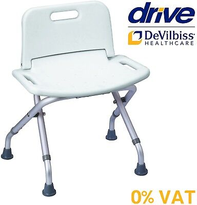Lightweight Aluminium Seat Bench Chair With Backrest Folding Shower Stool Bath