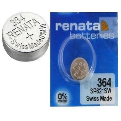 Renata Watch Batteries Swiss Made Cell Button Silv-Oxide 1.55v-364 SR621SW AG-1
