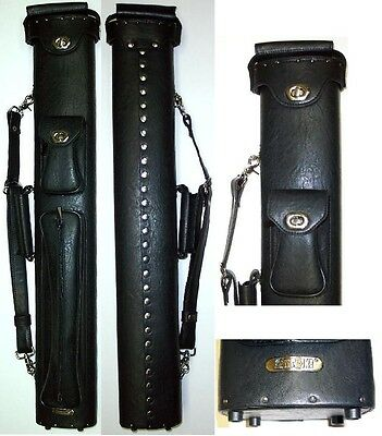 New Instroke Premier 3x5 Case - ISPR35-BK Black - Pool Cue Case - Holds 3+ Cues