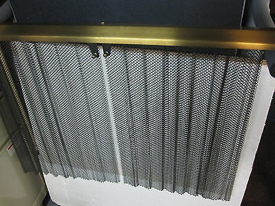 cascade antique brass hanging pull sliding mesh fireplace