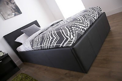 3FT Ottoman Gas Lift Storage Bed Available In Black and White NEXT DAY DELIVERY!