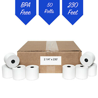 2 1/4 x 230' THERMAL RECEIPT PAPER-50 ROLLS **FREE SHIPPING**