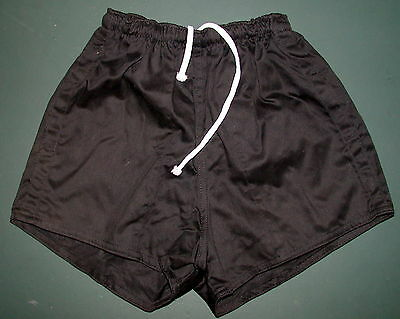 Rugby Union Shorts Black or White Buffalo Cotton Drill 2 Pockets with Drawstring