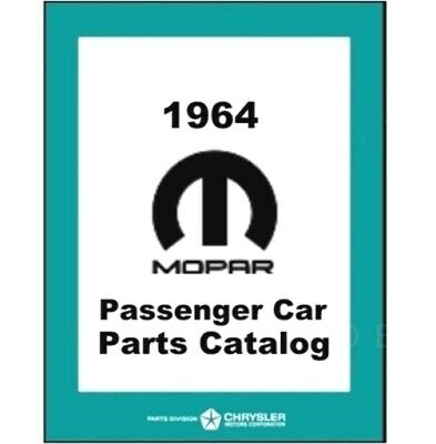 Factory MoPar Parts Manual for 1964 Plymouth - Dodge - Chrysler - Imperial
