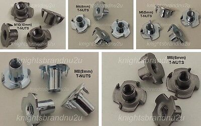4x T-NUTS FOR 4mm to 10mm DIAMETER SCREWS T NUT FIXING Tee Nut M4 M5 M6 M8  M10