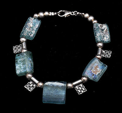 Roman Glass Bracelet Authentic & Luxurious with Certificate. • CAD $180.05