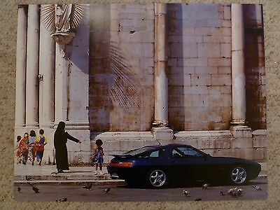 1995 Porsche 928 GTS Showroom Advertising Poster RARE!! Awesome L@@K