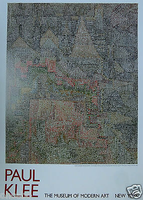 Klee Paul - Affiche Originale Pour Le Musee D'art Moderne De New York 1989