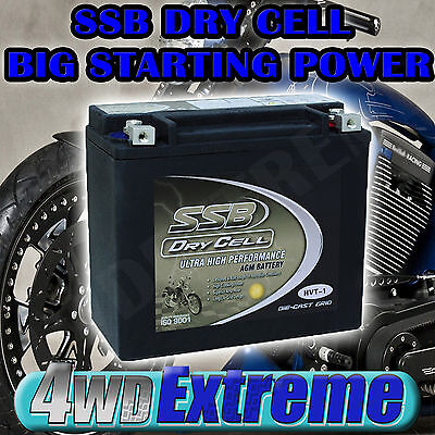 Dry Cell Bike Battery Hvt1 450Cca Harley Fxst Fxd Flst Dyna Softail Vrod