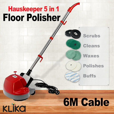 New Electric Floor Polisher Timber Carpet Tile Waxer Cleaning Buffer Cleaner