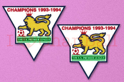 England Premier League Champion 93-94 Sleeve Gold Patch / Badge ManUnited Jersey