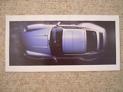 1996 Porsche 911 Carrera 4S Coupe Showroom Advertising Poster RARE Awesome L@@K