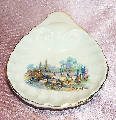 Estate Collectable ~ Sandland Ware Old World Shell Butter Dish ~ Vintage England