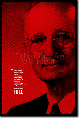 Napoleon Hill Art Photo Print Poster Gift Quote Business Think And Grow Rich