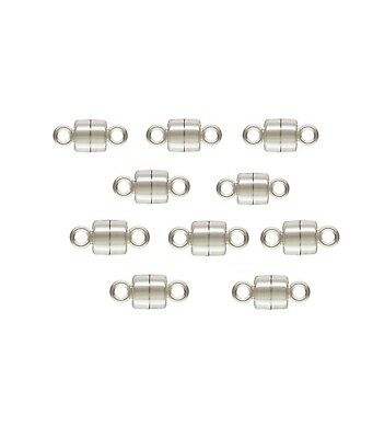 925 Sterling Silver Magnetic Clasp 4.5mm 10sets  #5305-4