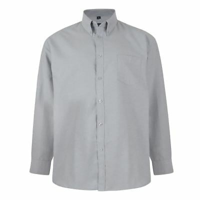 Kam Cotton Rich Oxford Weave Long Sleeved Shirts (Kbs664A) 2Xl To 8Xl,5 Colours