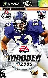Madden NFL 2005  (Xbox, 2004) with Manual