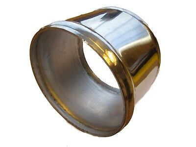 """Aluminium Alloy Intake Induction Pipe Hose Joiner 102mm 4"""" Inch Swaged Ends 100"""