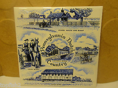 "Pennsylvania Dutch Country Wall Tile,  6"" x 6"", 1965 (Used/EUC)"
