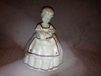 Vintage Young Lady Figurine with Ukranian Pattern