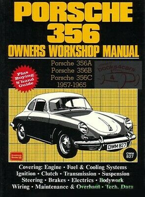 Porsche 356 Shop Manual Service Repair Book Service Owners Workshop Speedster Gt