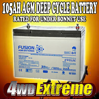 Deep Cycle Agm 105Ah 12V Fridge Caravan 4Wd N70Zz Battery Cbc12V105Ah 100Ah