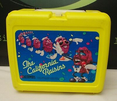 Vintage The California Raisins Thermos Lunch Box with Thermos READ