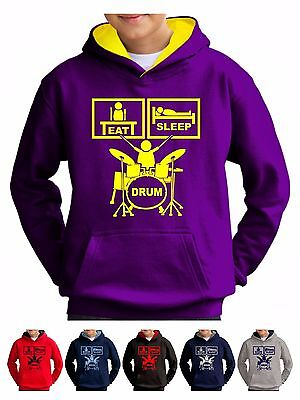 Drum Hoodie Boys Girls Sweatshirt Age 3 to 13 - Smartphone Compatible