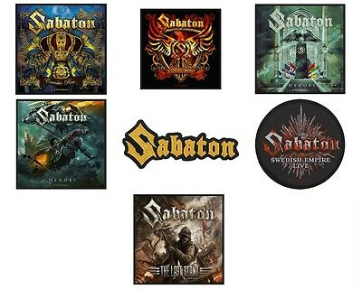 Sabaton Sew On Patch/Patches NEW OFFICIAL. 7 Designs to choose from