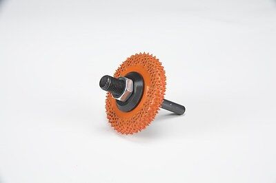 "BZ23890 2"" Buzzout Wheels Extra Coarse Orange 2""x3/8"" Adapter included 1/4"" Dia"