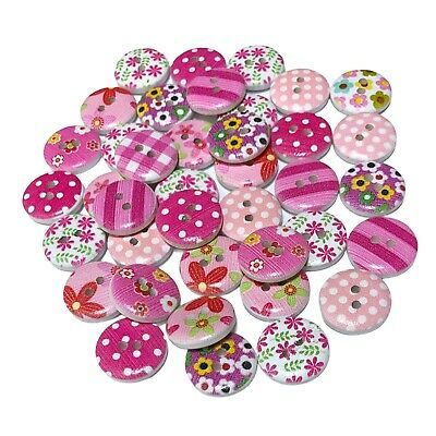 100 15mm MIXED RESIN BUTTONS - CRAFT - SCRAPBOOK - SEW - CARDS - EMBELLISHMENTS
