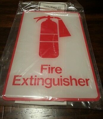 "Fire Extinguisher Sign 9"" x 6"" Davsigns by Davson Vinyl Exterior Grade"