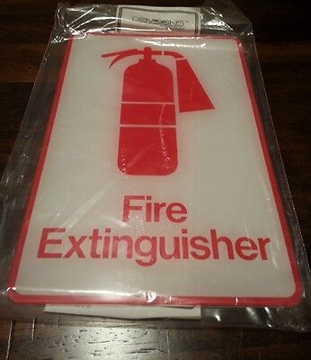 "Fire Extinguisher Sign 9"" x 6"" Davsigns Davson Acrylic Exterior Grade BOX OF 12"