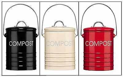 Compost Bin/pail/bucket/cady Galvanized Steel Home/garden Waste Soil With Handle