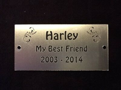 Personalised Pet Memorial Plaque - Various Colours