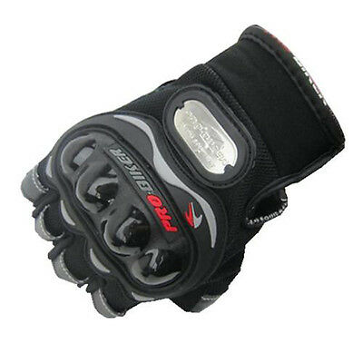 New Half Finger Motorcycle Bike Bicycle Riding Cycling Gloves Black M-XL