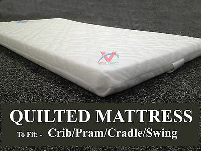 Breathable Soft Quilted Baby Bed Cot Cradle Pram Swing Nursery Crib Mattress