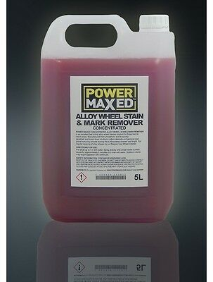 Power Maxed CLEAN Alloy Wheel Cleaner Stain & Mark Remover 5L Concentrate